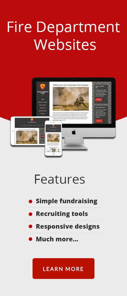 Fire Department Website Templates